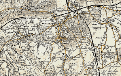 Old map of Tower Hill in 1898-1909