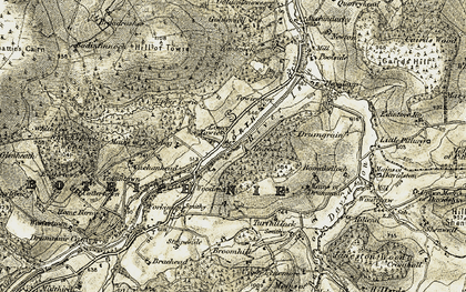 Old map of Wester Chalder in 1908-1910