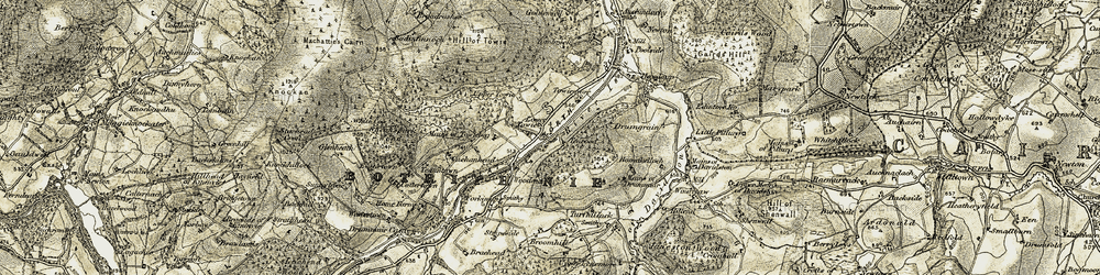 Old map of Wester Chalder in 1908-1910