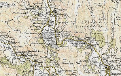 Old map of Alcock Tarn in 1904