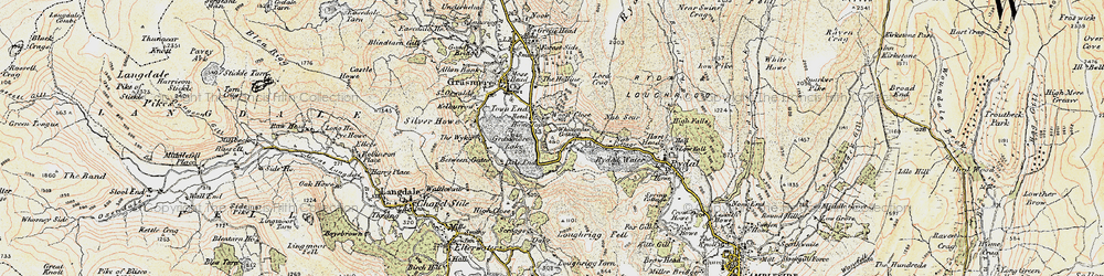 Old map of White Moss Common in 1904