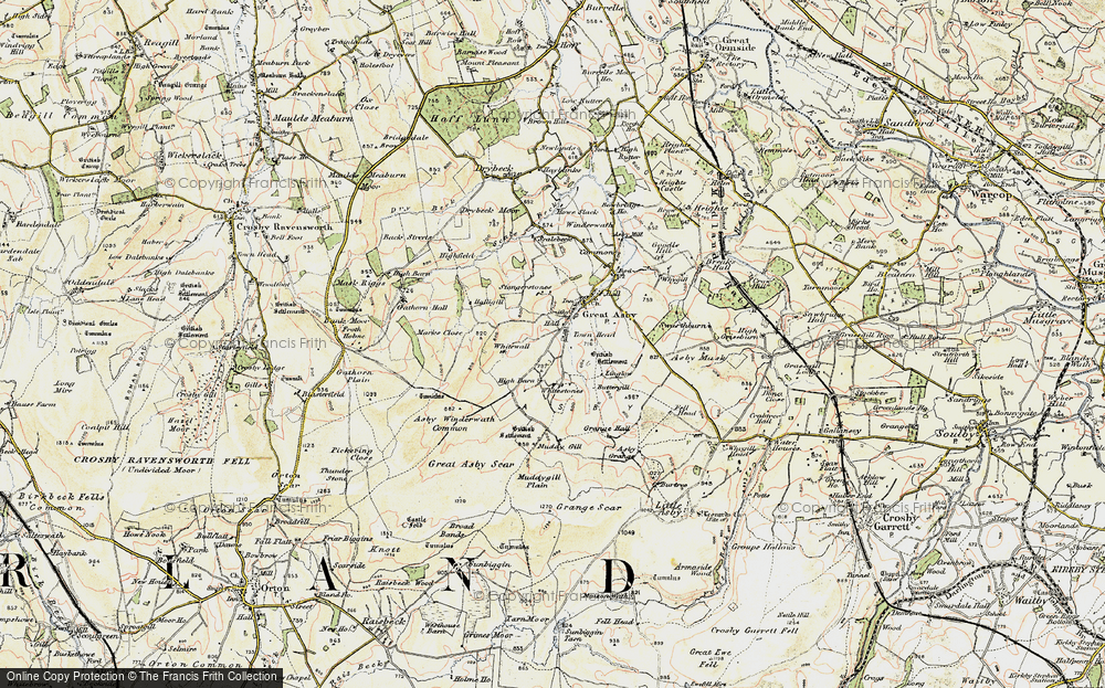 Old Map of Historic Map covering Asby Winderwath Common in 1903-1904