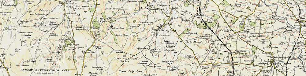 Old map of Whitewall in 1903-1904