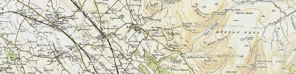 Old map of Wharleycroft in 1903-1904