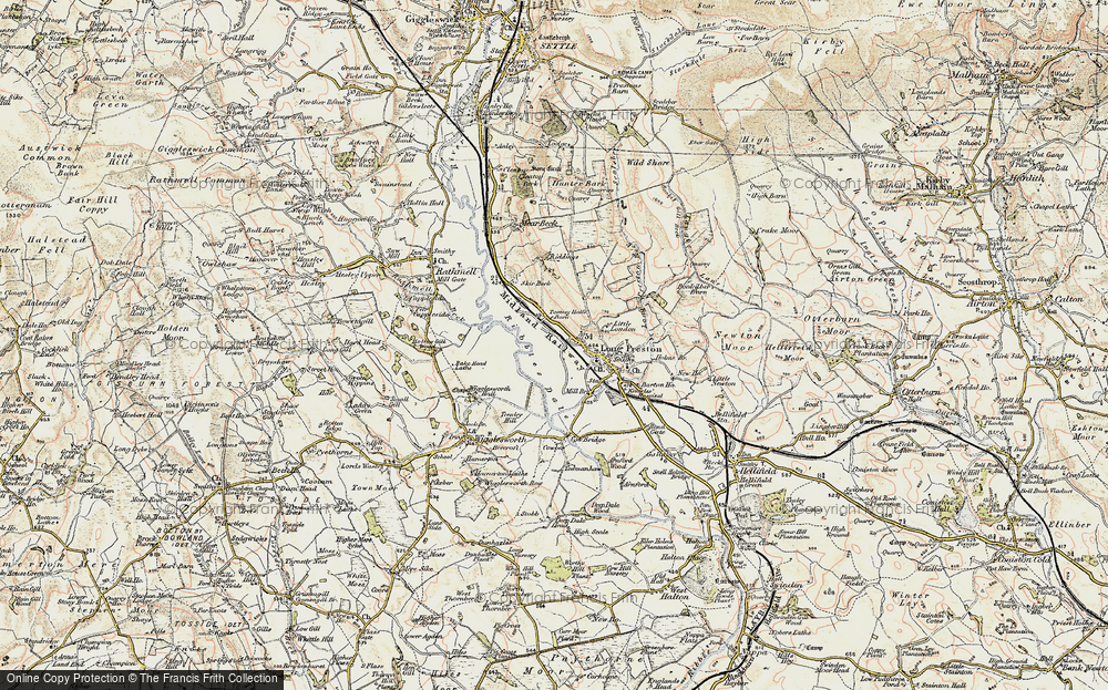 Old Map of Historic Map covering Tommy Hall's Barn in 1903-1904