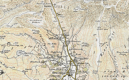 Old map of Willie Wife Moor in 1904