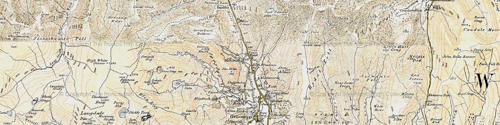 Old map of Tongue Gill in 1904
