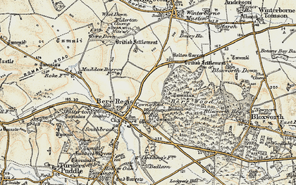 Old map of Woodbury Hill (Fort) in 1897-1909