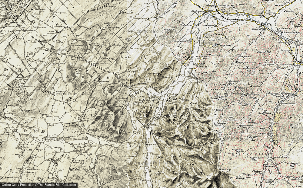 Old Map of Historic Map covering Linton Hill in 1901-1904