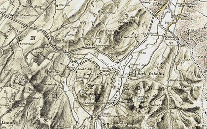 Old map of Wideopen in 1901-1904