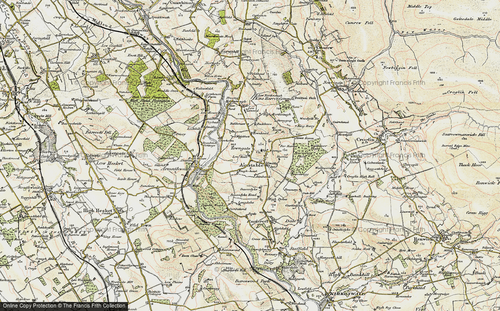 Old Map of Historic Map covering Aimbank in 1901-1904