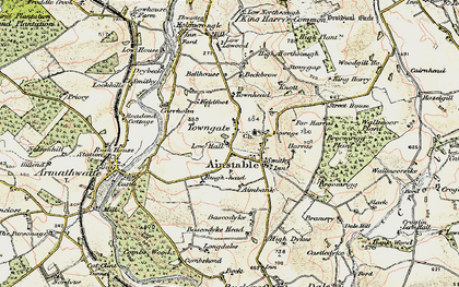 Old map of Aimbank in 1901-1904