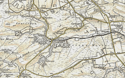 Old map of Wogden Clough in 1903
