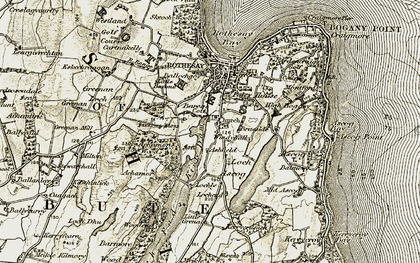 Old map of Windyhall in 1905-1907