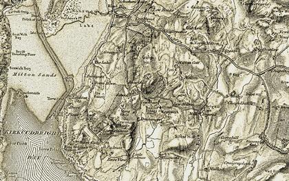 Old map of Balmae Ha'en in 1905