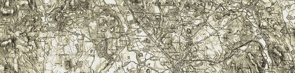 Old map of Wheatcroft in 1904-1905
