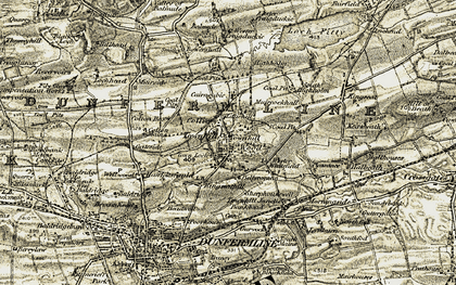 Old map of Wester Whitefield in 1904-1906