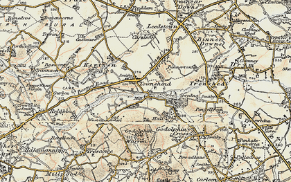 Old map of Townshend in 1900
