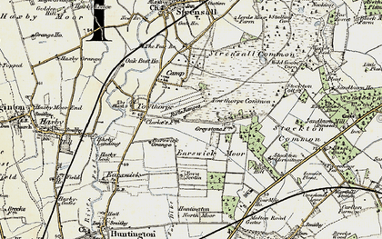 Old map of Wild Goose Carr in 1903-1904