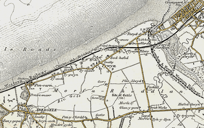 Old map of Towyn in 1902-1903