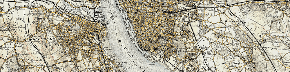 Old map of Albert Dock in 1902-1903