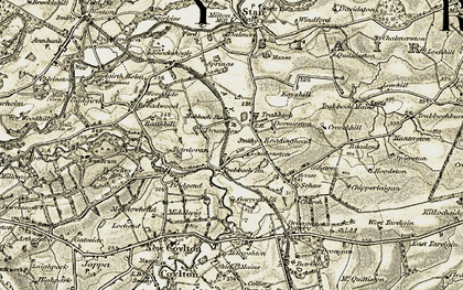 Old map of Trabboch in 1904-1906