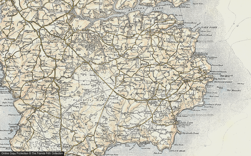 Old Maps of Goonhilly Earth Station Francis Frith