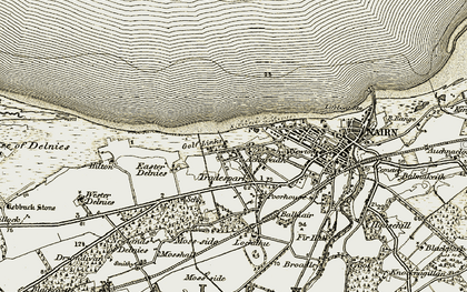 Old map of Achareidh in 1911-1912