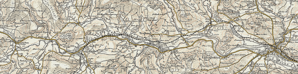 Old map of Abercamlais in 1900-1901