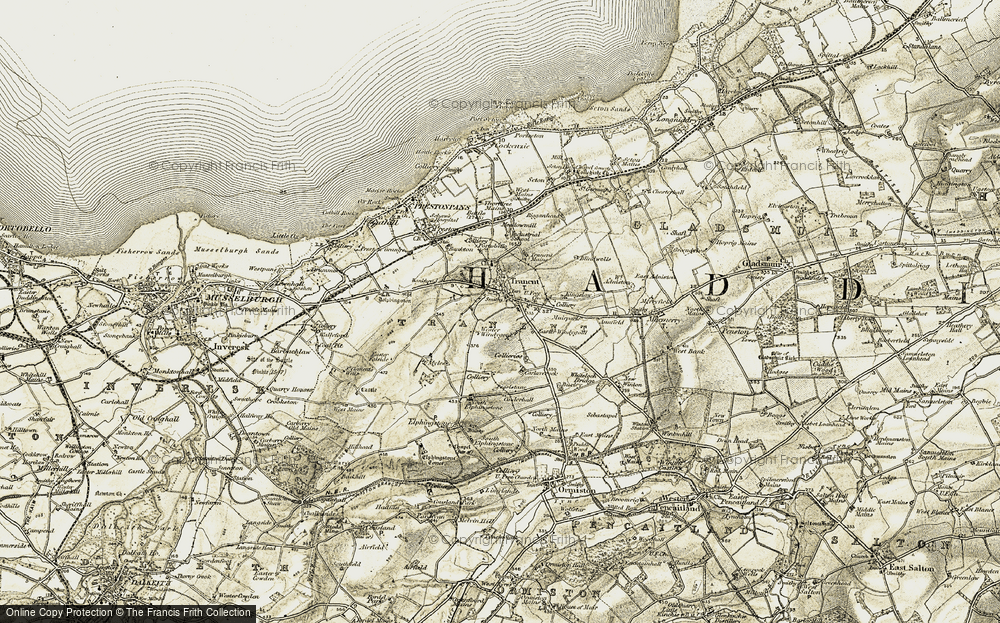 Old Map of Historic Map covering Bankhead in 1903-1904