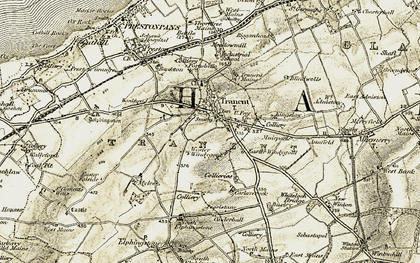 Old map of Tranent in 1903-1904