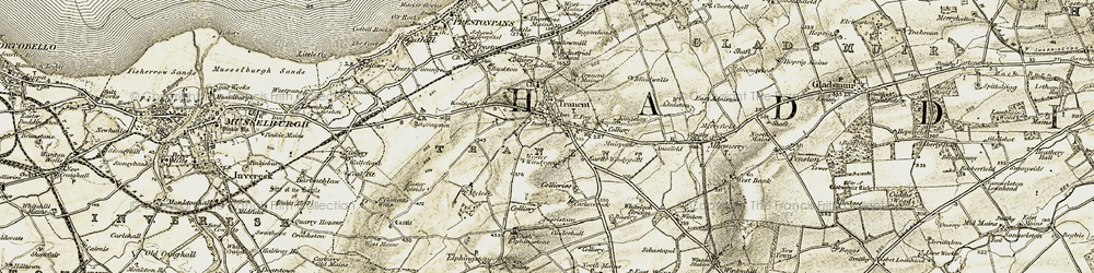 Old map of West Windygoul in 1903-1904