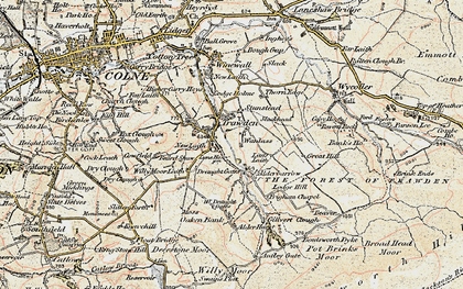 Old map of Trawden in 1903-1904