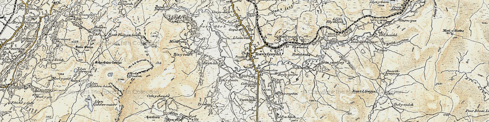 Old map of Afon Crawcwellt in 1903