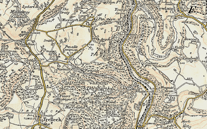 Old map of Argoed, The in 1899-1900
