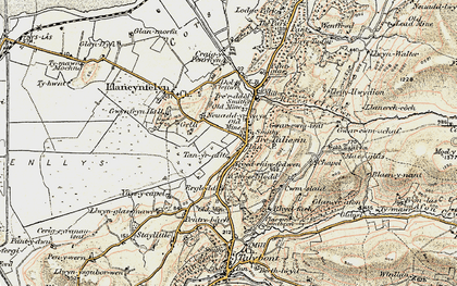 Old map of Tre Taliesin in 1902-1903