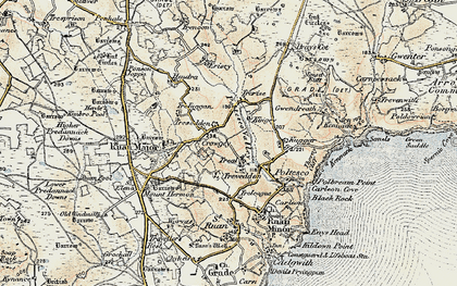 Old map of Treal in 1900