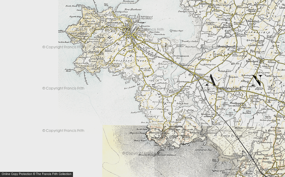 Old Map of Historic Map covering Bagnol in 1903-1910