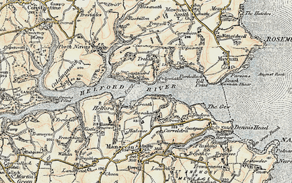 Old map of Treath in 1900