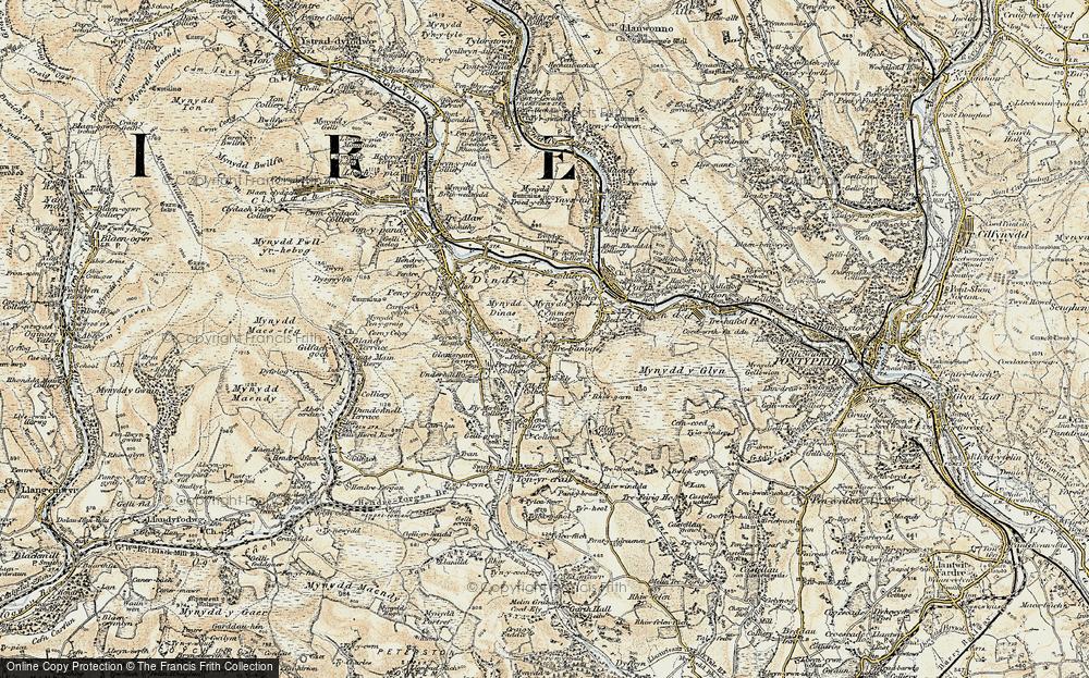 Old Map of Trebanog, 1899-1900 in 1899-1900