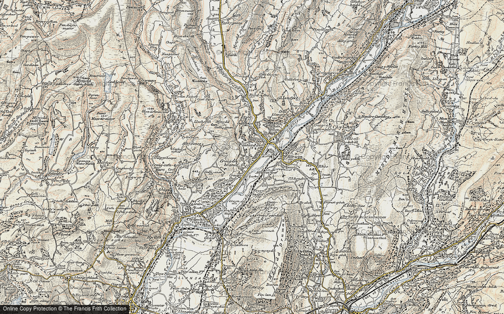 Old Map of Trebanos, 1900-1901 in 1900-1901