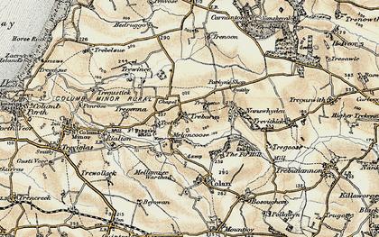 Old map of Trebarber in 1900