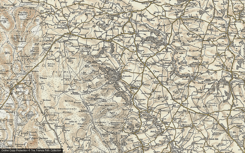 Old Map of Historic Map covering Allabury in 1900