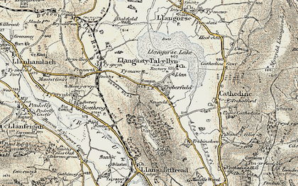 Old map of Allt y Esgair in 1899-1901