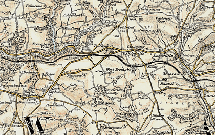 Old map of Treburgie in 1900