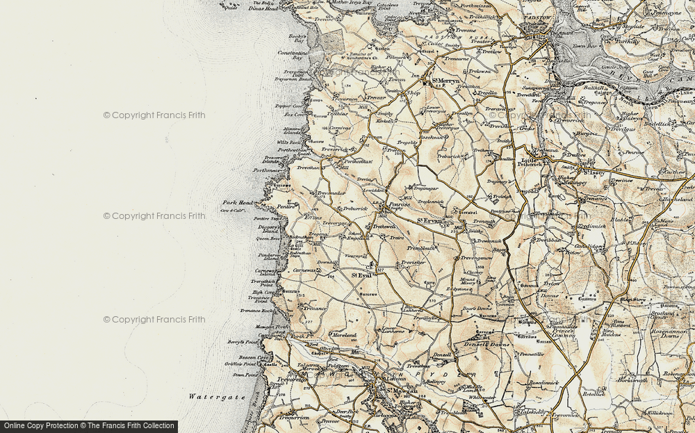 Old Map of Treburrick, 1900 in 1900