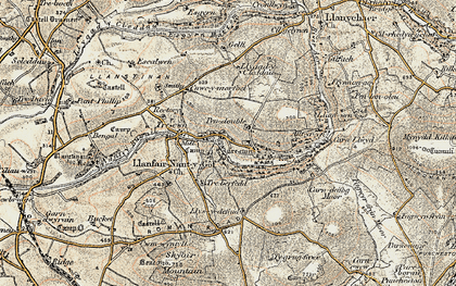 Old map of Allt yr Yn in 1901-1912