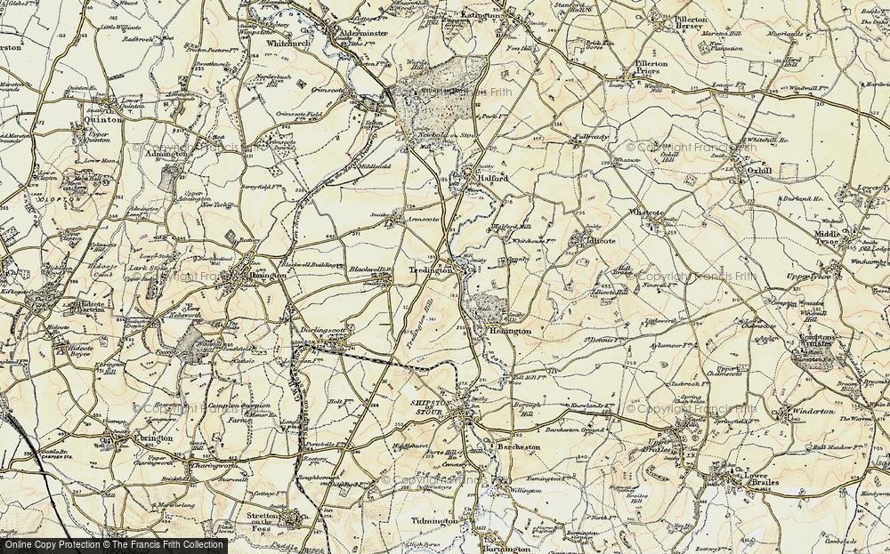 Old Map of Tredington, 1899-1901 in 1899-1901