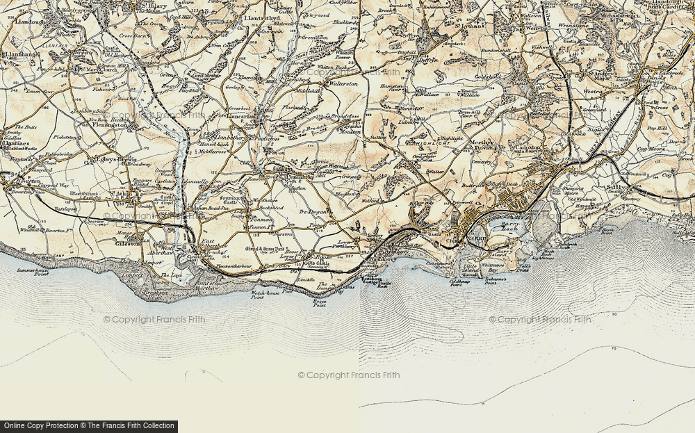 Old Map of Tredogan, 1899-1900 in 1899-1900