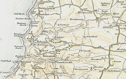 Old map of Linton in 1900